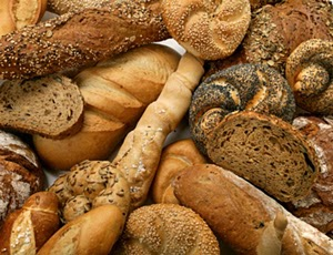 Selection of artisan breads