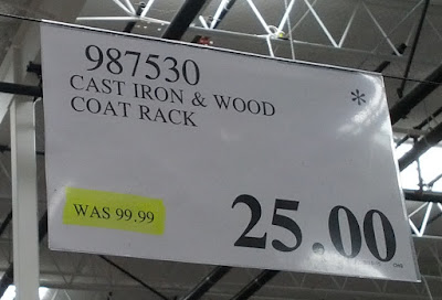 Deal for the Cast Iron and Wood Coat Rack at Costco