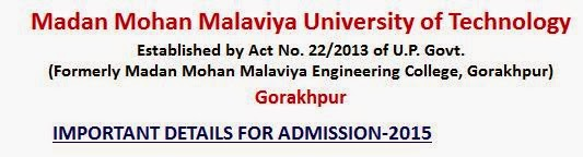 Madan Mohan Malaviya University Admission 2015