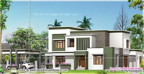 Contemporary home plan