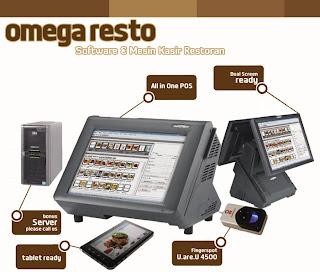 Omega Resto, Software Mesin Kasir dan Restoran