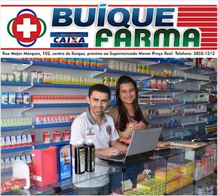BUÍQUE FARMA E CAIXA AQUI