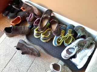 Shoe pile