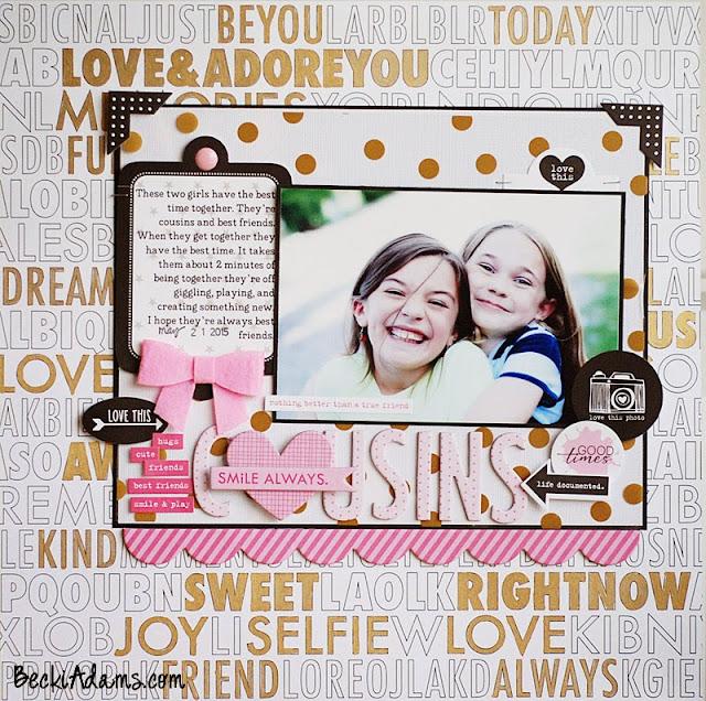 Scrapbooking Cousins by Becki Adams @jbckadams