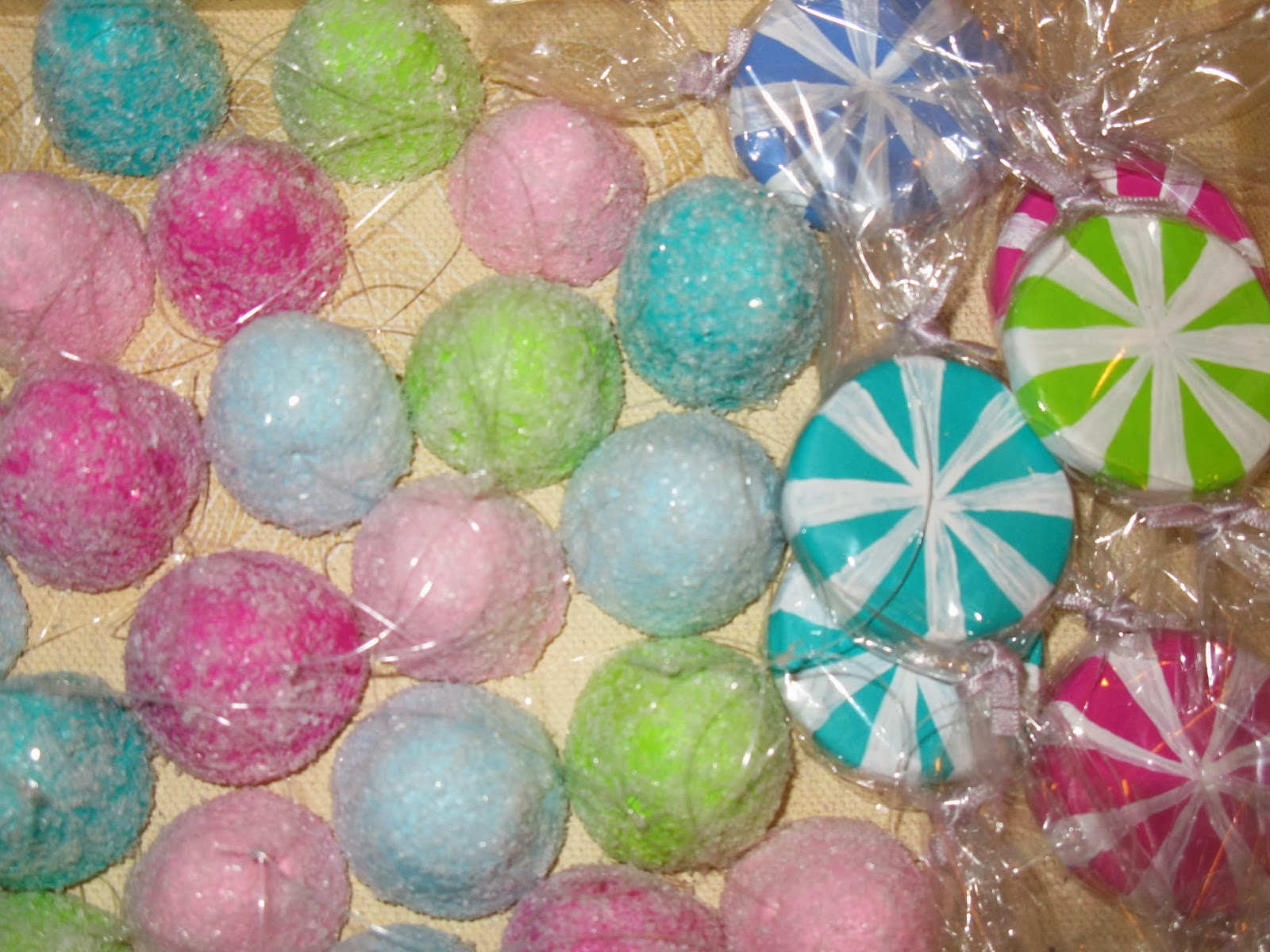 here is a close up of the gum drops and whimsical peppermints - Candy Christmas Decorations Hobby Lobby