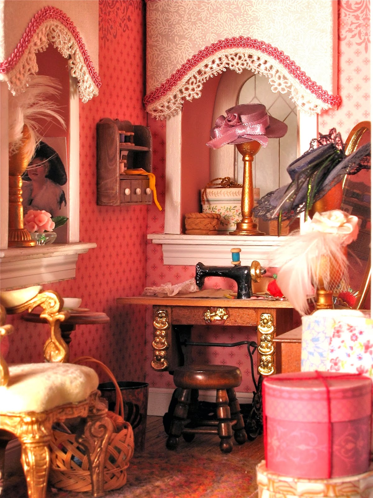 dollhouse sewing room
