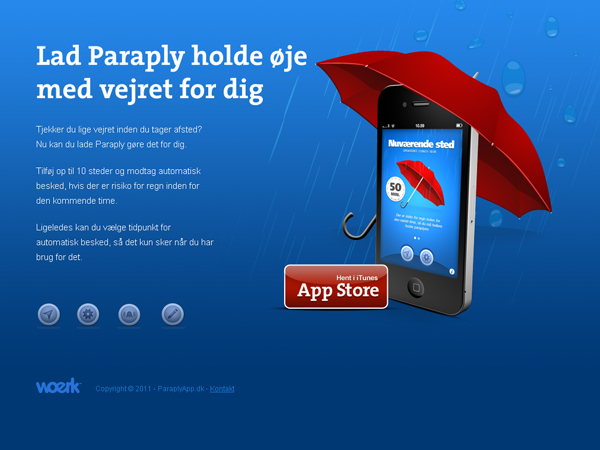 Paraply: iphone application website
