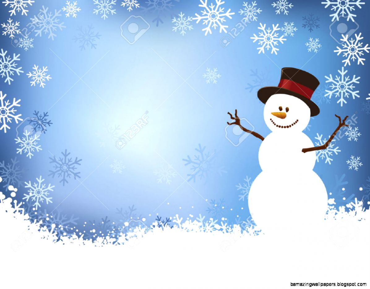 Snowman Layout With Snowflake Border Royalty Free Cliparts