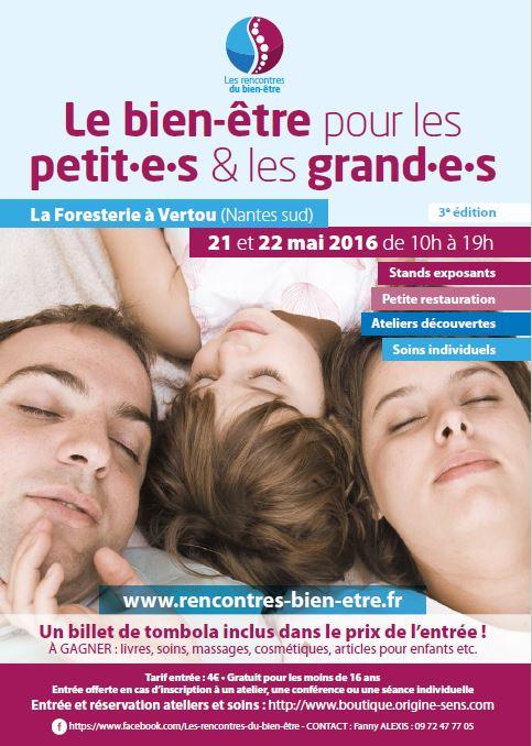 Salon Bien-Être pour les petits et les grands à Vertou le 21 et 22 Mai 2016