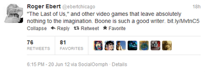 Roger Ebert Last of Us tweet