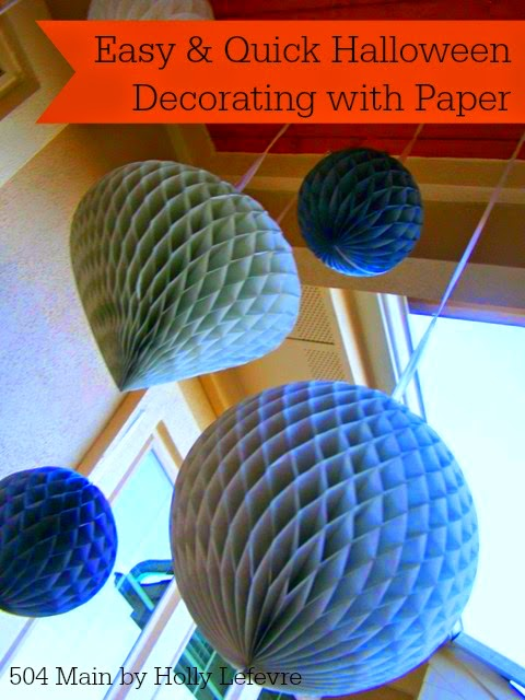 Easy (and Quick) Halloween Decorating with Paper: IKEA Paper Shop Giveaway