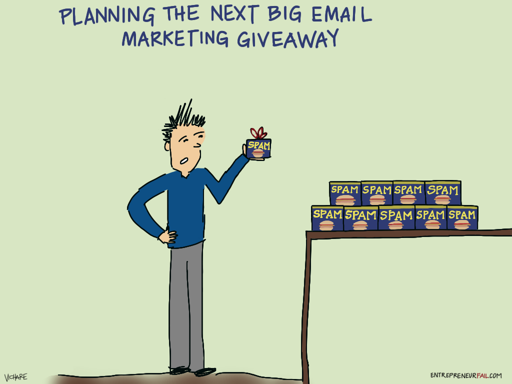 %23entrepreneurfail+Email+Marketing+Giveaway - Wham, Bam, Thank You, SPAM (Comic)