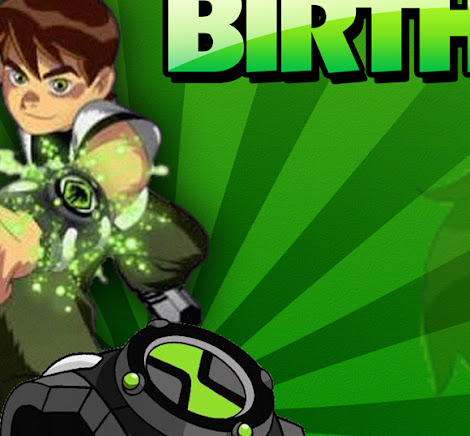 Ben 10 Birthday Photoshop Template