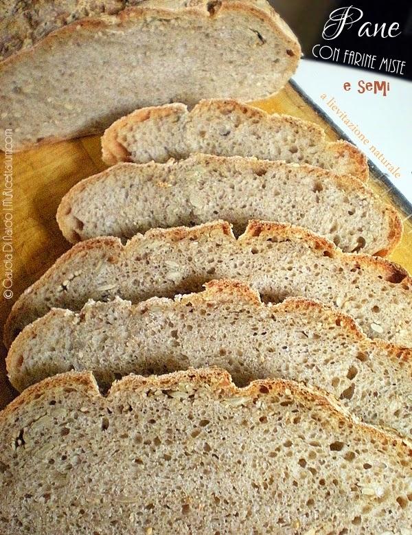 Pane con farine miste e semi a lievitazione naturale