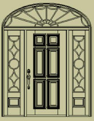 Colonial Door Style Design