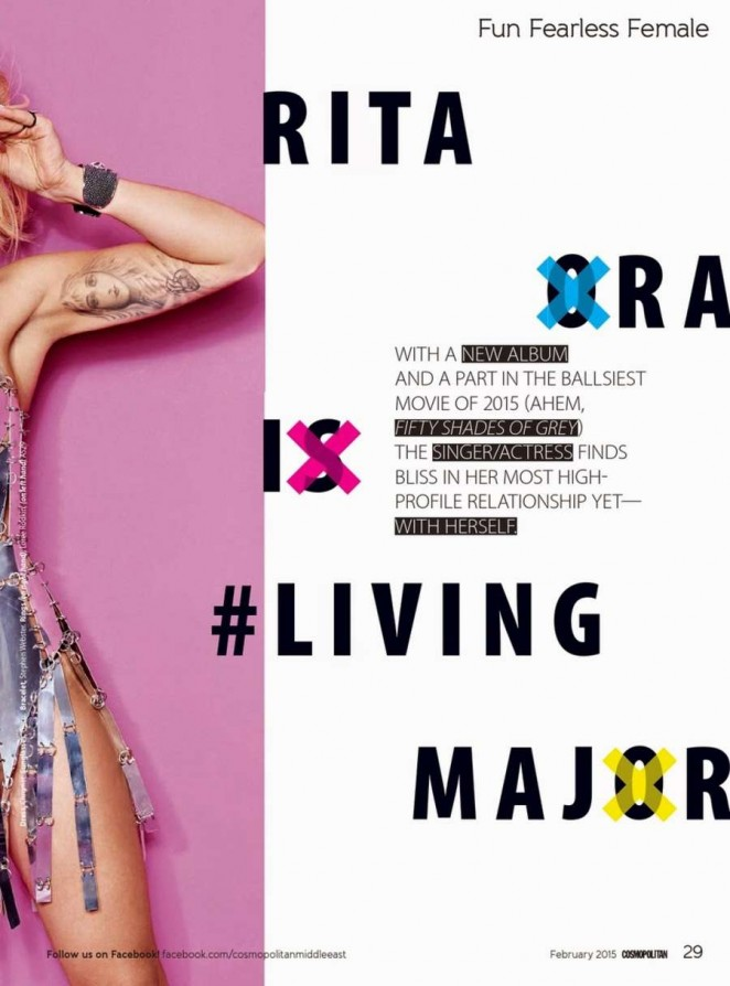Rita Ora goes glamorous for Cosmopolitan Middle East's February 2015 edition