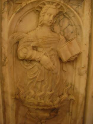 Imagen de Santa Eulalia en el Púlpito; es la más antigua de Mérida.