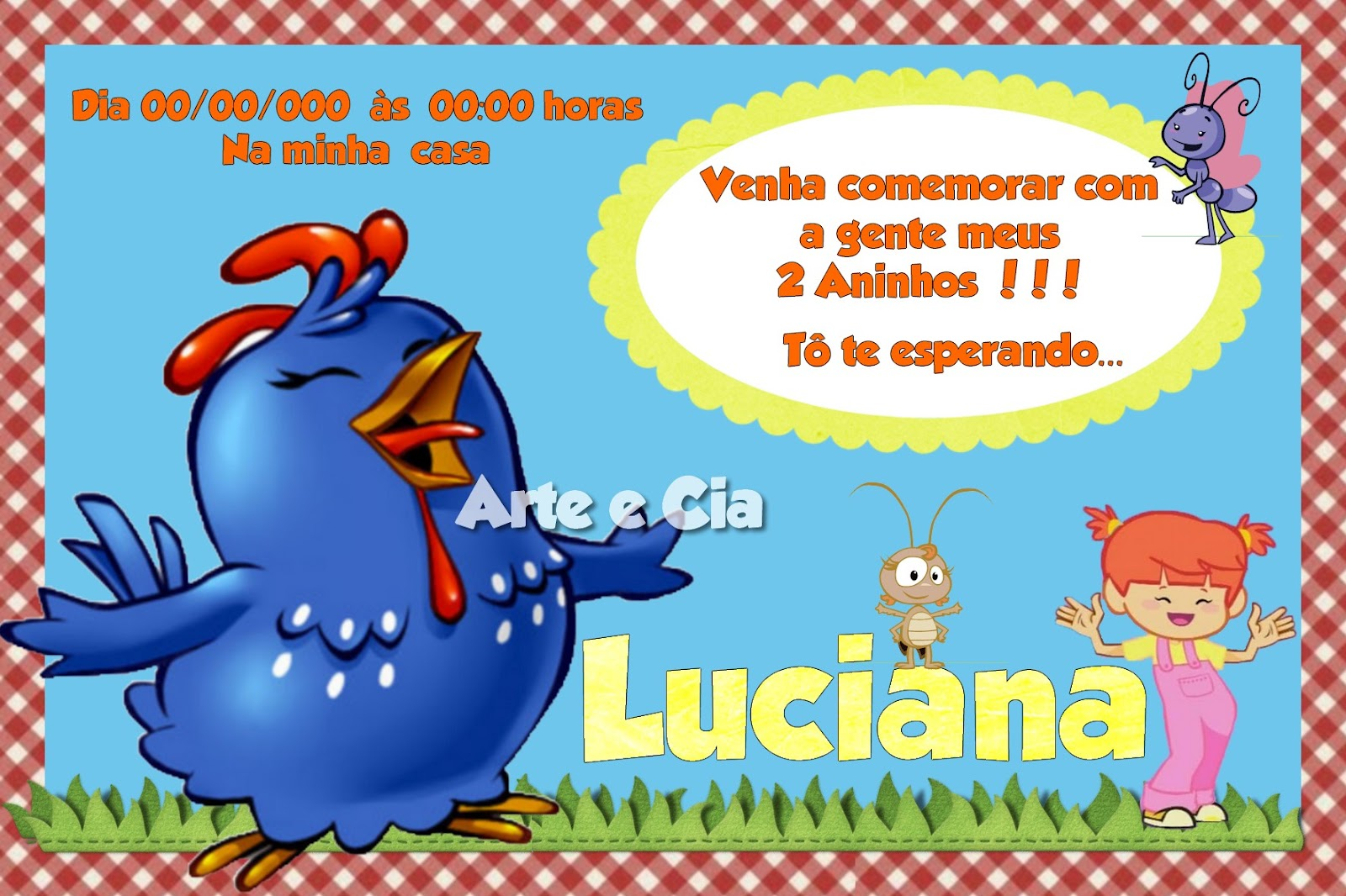 Convite Galinha Pintadinha - 03