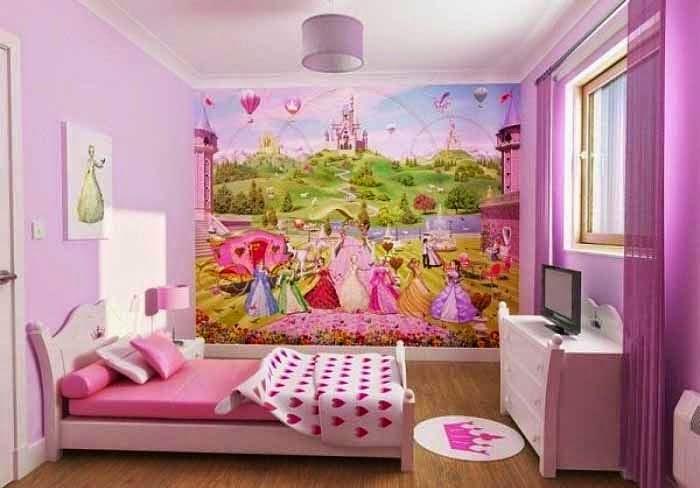Gambar desain kamar anak perempuan