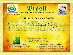 CERTIFICADO DE COORDENAÇÃO OFICIAL