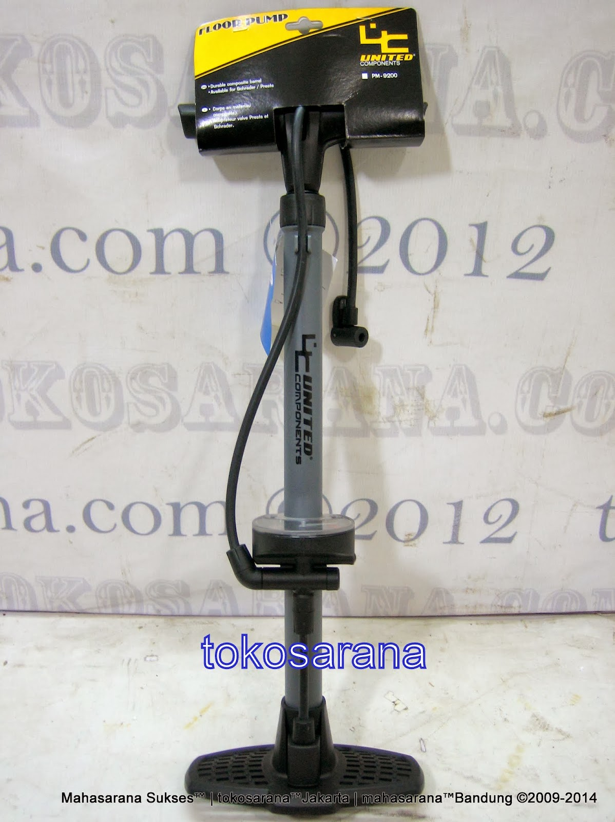 Pompa Sepeda United Component PM9200 Floor Pump with Meter