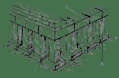 Изменение сечения отдельных опор в уровнях плит