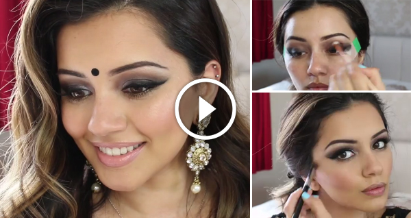 Wedding Reception Party Makeup And Hair Tutorial By Kaushal Beauty ...