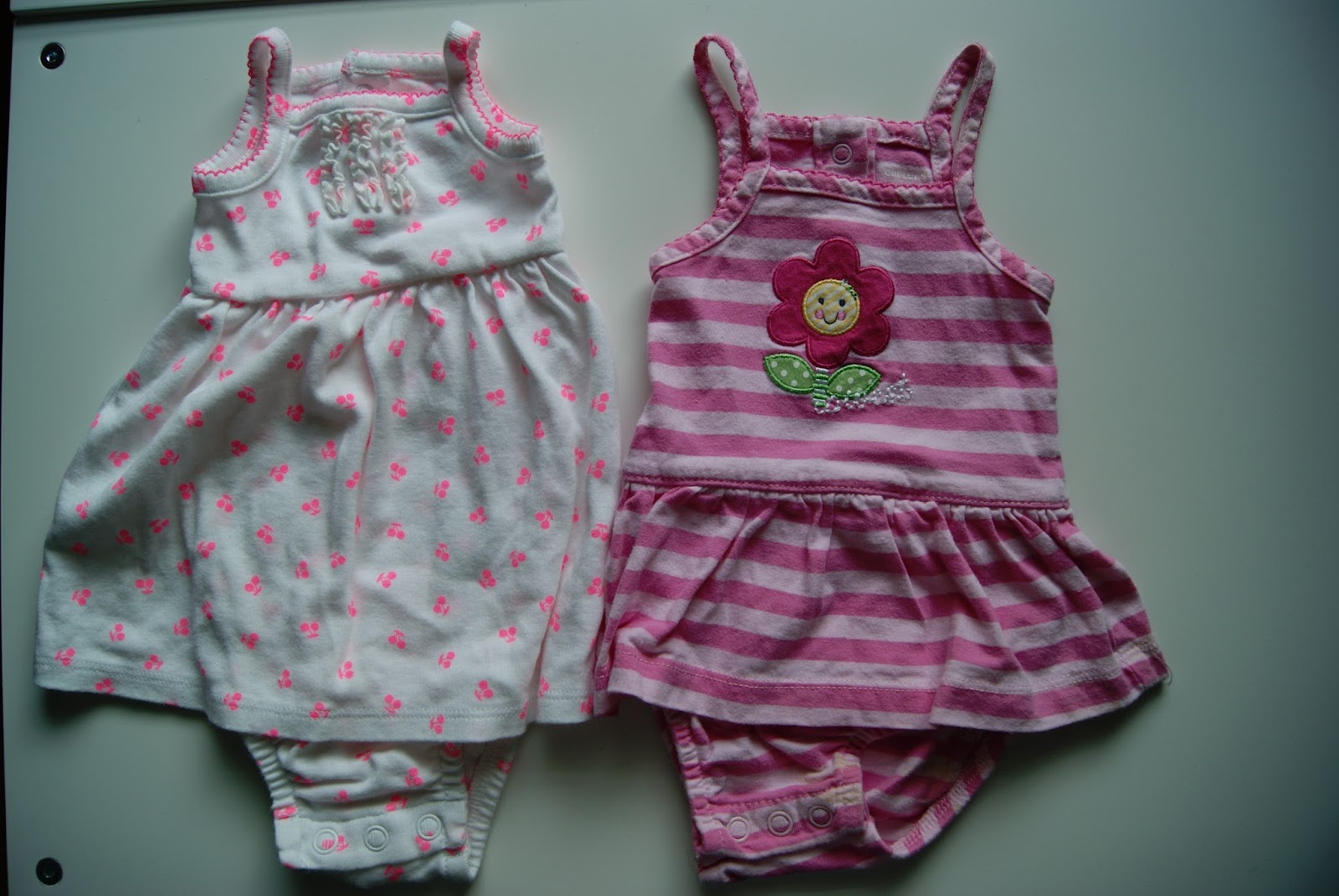 No-sew 18-inch doll dresses from newborn onsie dresses