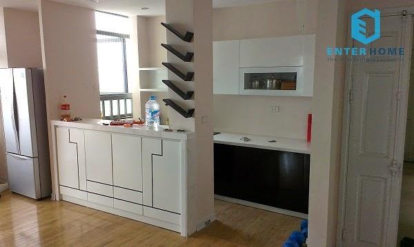 thi công nội thất nhà bếp chung cư vov