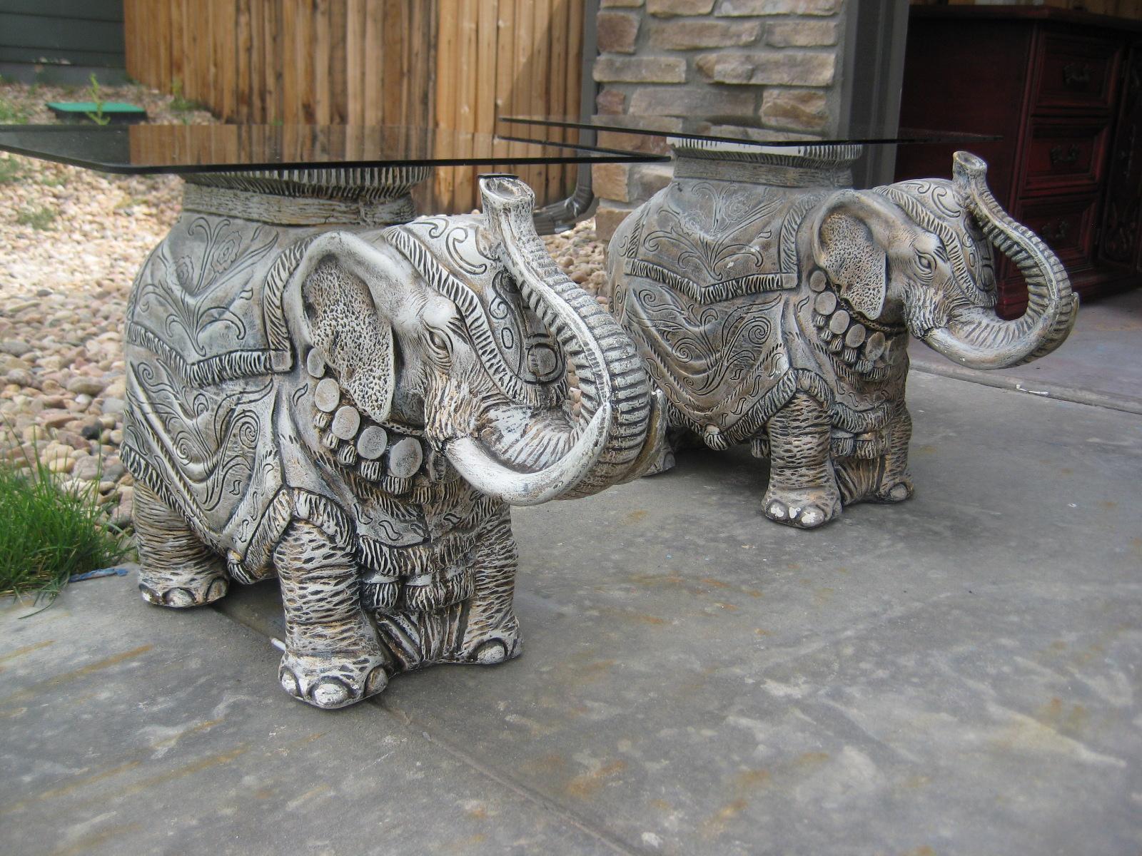 Vintage Elephant End Tables   $100 Each Obo