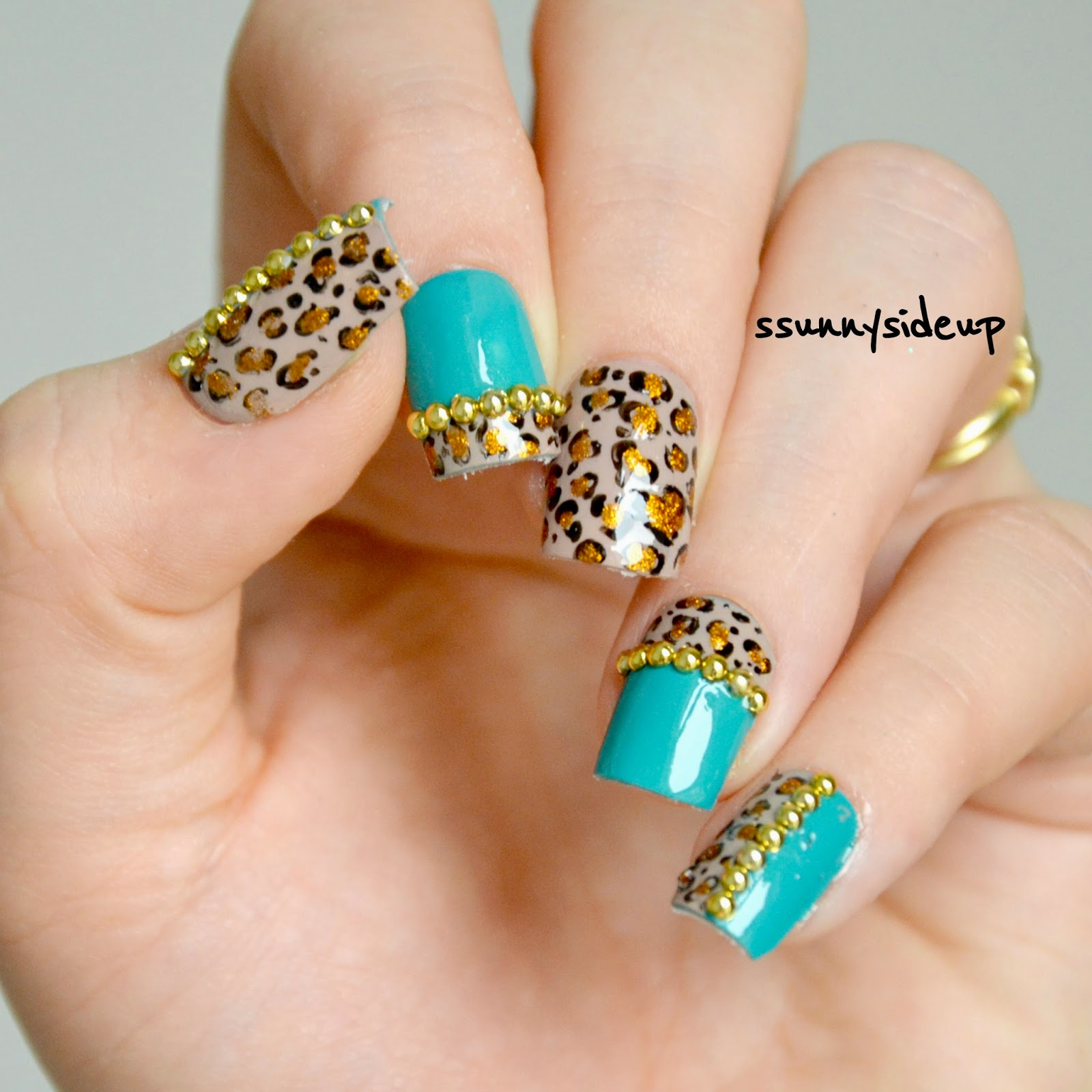 ssunnysideup: [REVIEW] Leopard print nails with studs from ...