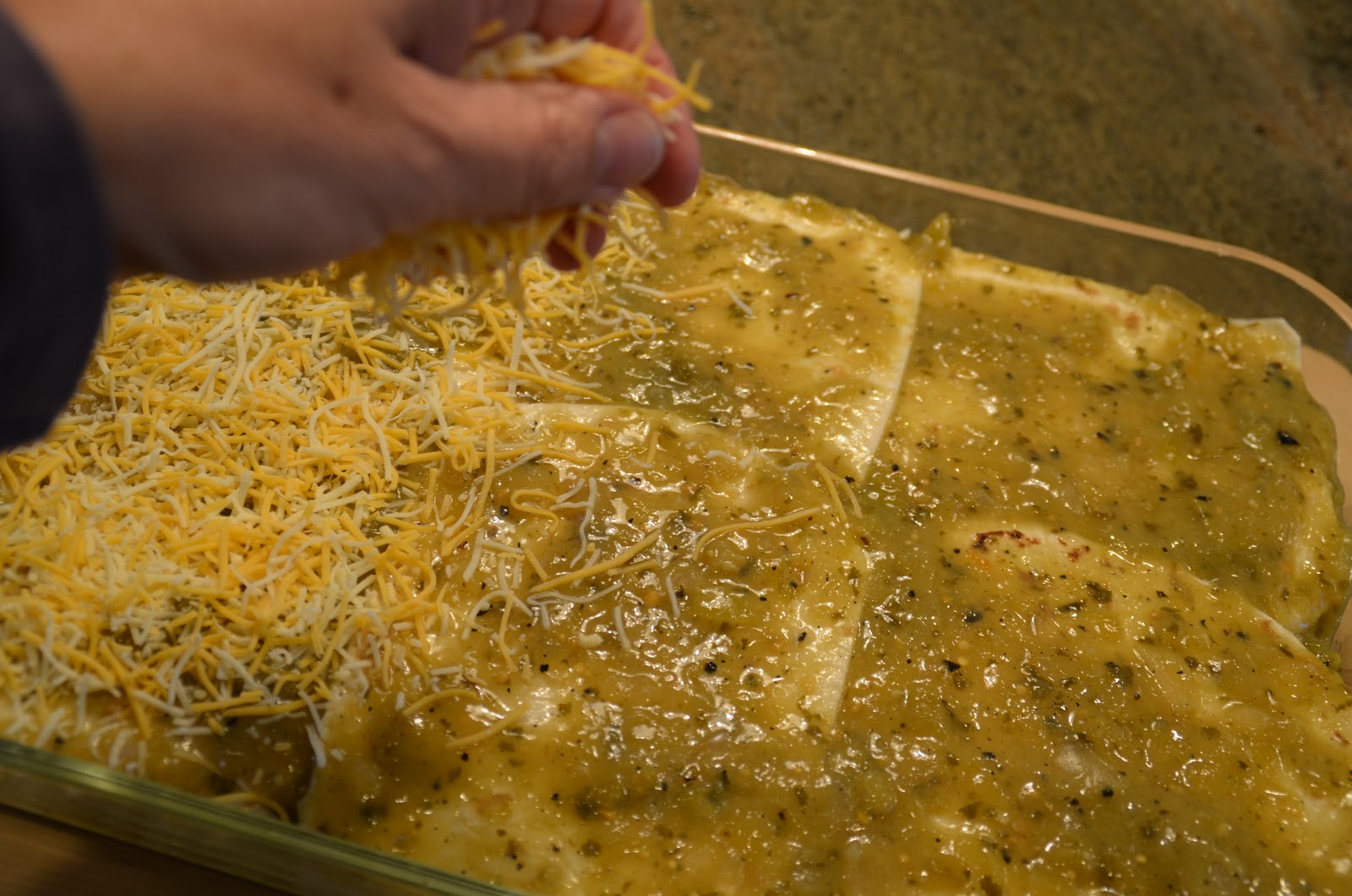 ... get that recipe?: 5 Course Mexican Fiesta: Chicken Enchilada Casserole