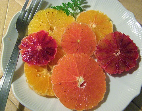 Plate of Citrus Salad
