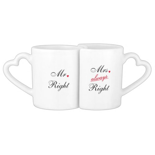 Mr Right Mrs Always Right | Couples Funny Mug Set