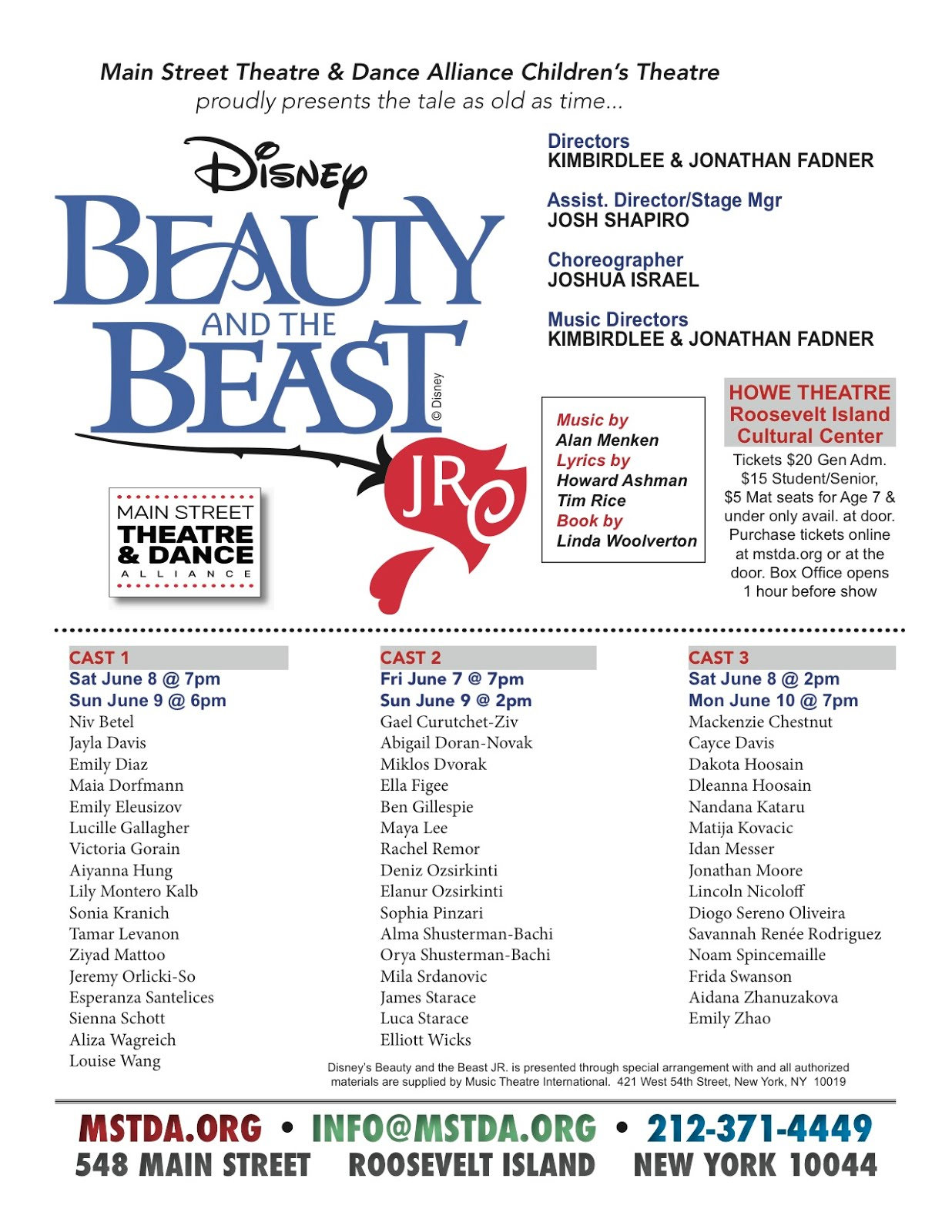 MST&DA Children's Theatre Presents Beauty & The Beast