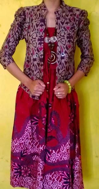 model baju batik pesta wanita elegan