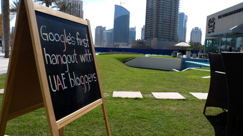 Google's First Hangout with UAE Bloggers in Dubai