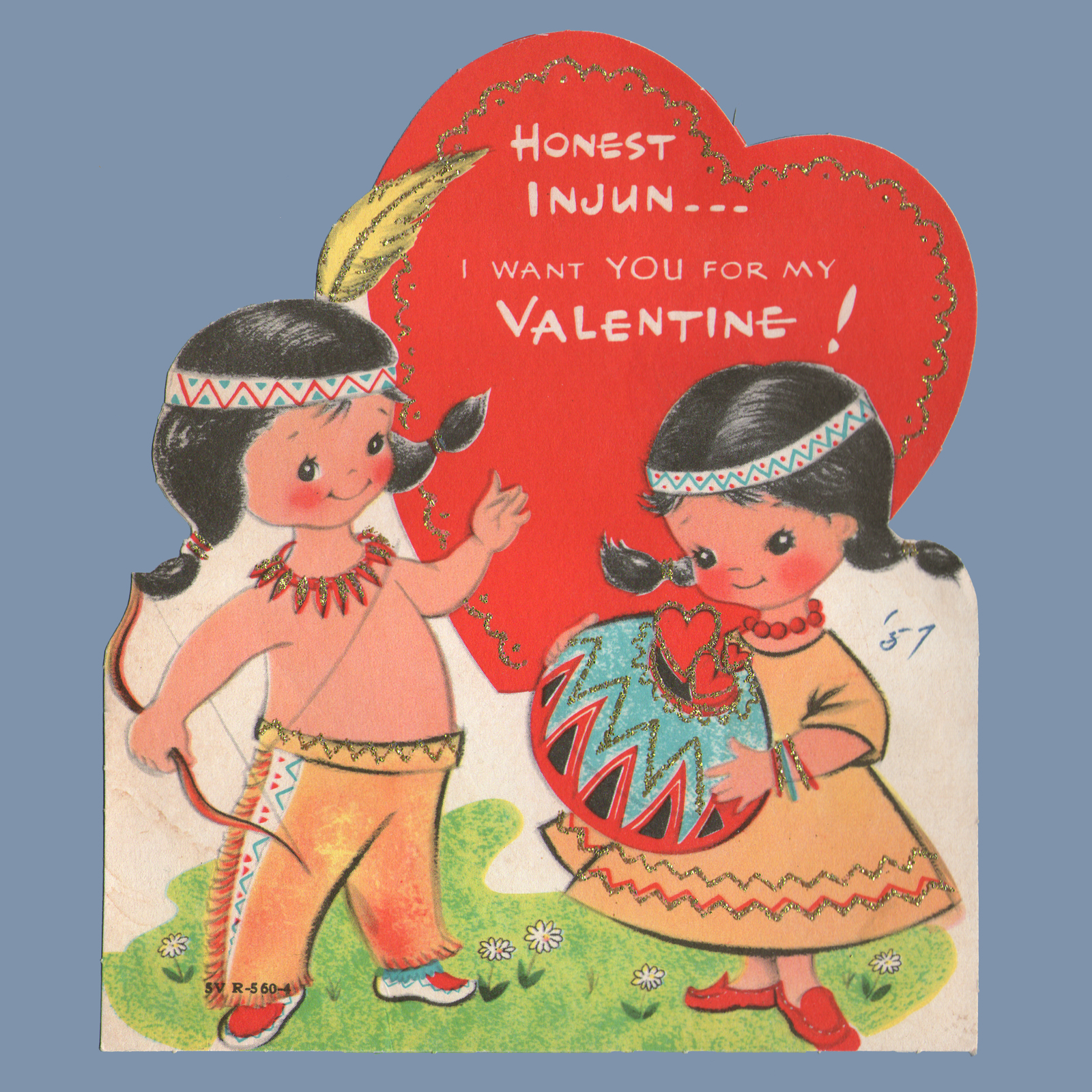Vintage Valentine Museum Native Americanamerican Indian Themed