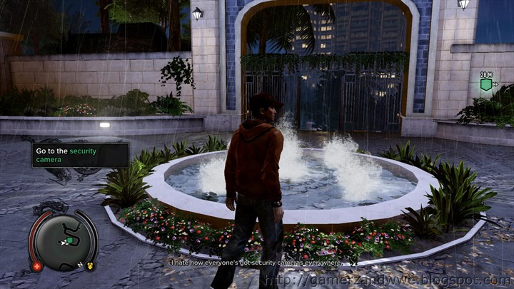A fountain outside Two Chin's House