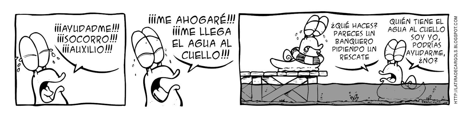 Tira comica 127 del webcomic Cargols del dibujante Franchu de Barcelona