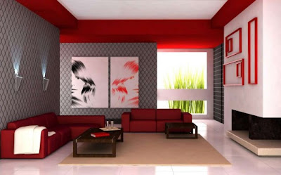 Decorating, Red Color, Living Room