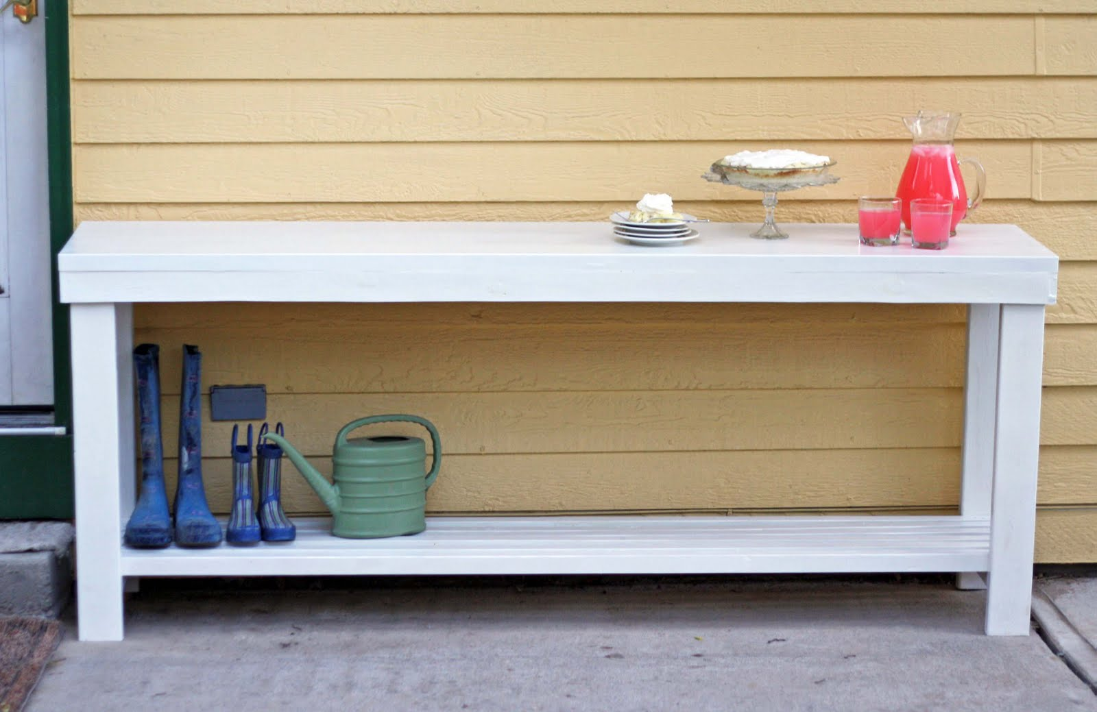 ordinary Outdoor Console Buffet Table Part - 16: Outdoor Console Table