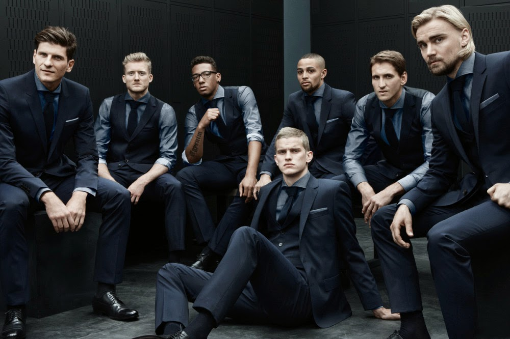 GERMAN FOOTBALL TEAM IN HUGO BOSS