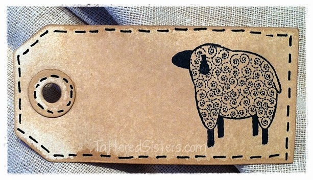 Primitive Sheep Grungy Tag