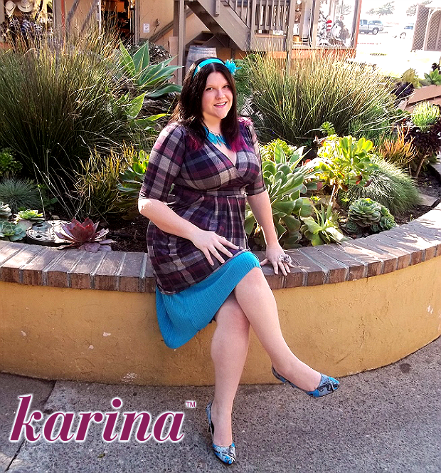 Karina Dresses Penelope in Purple Plaid