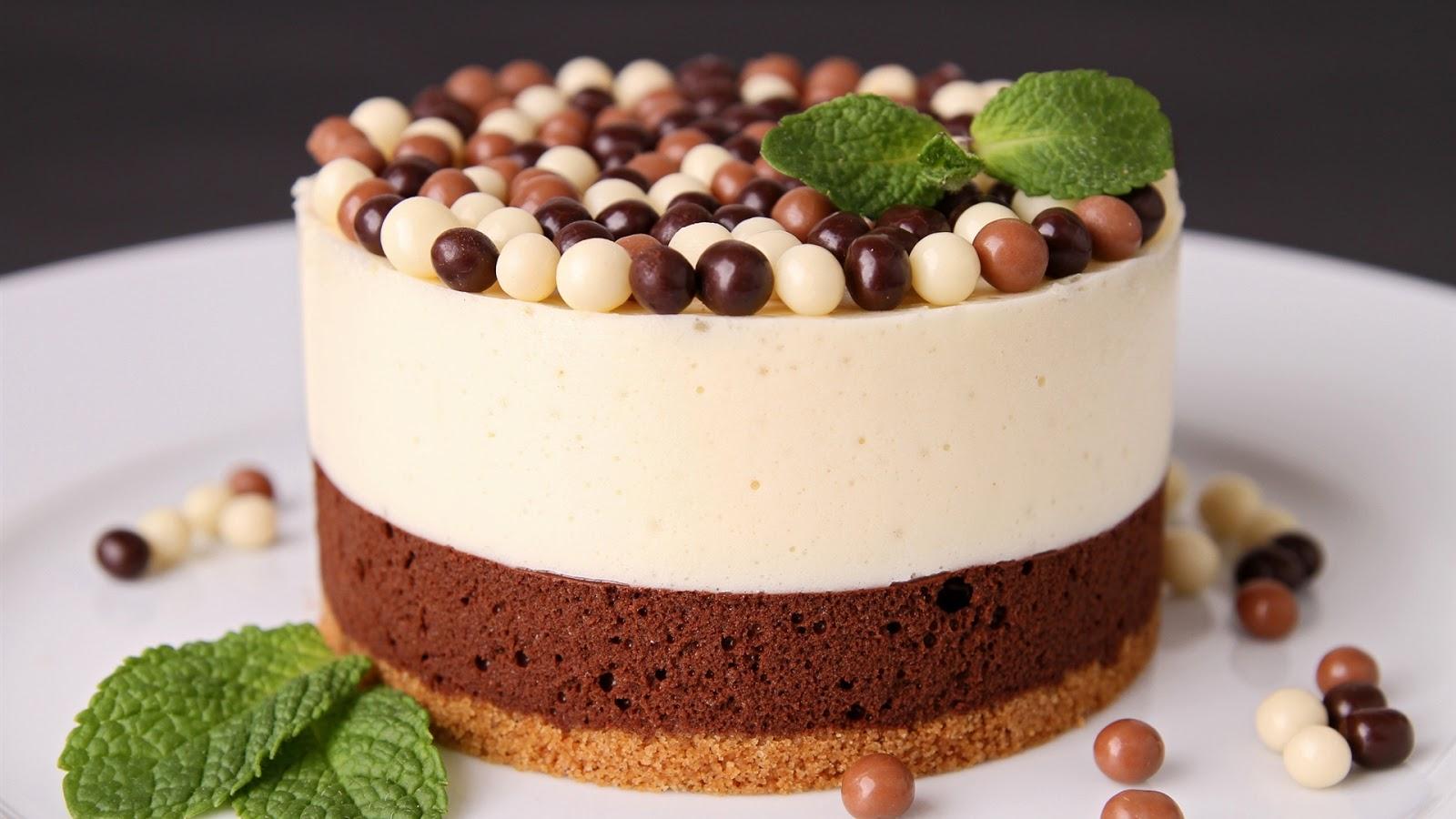 Chocolate Cake Images Dessert : Chocolate Cake Dessert Mint Leaves Full HD Desktop ...