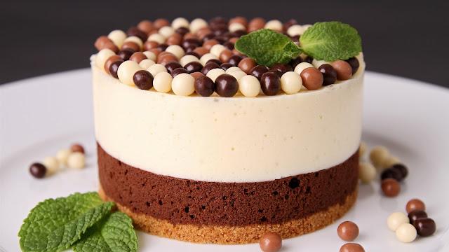 Chocolate Cake Dessert Mint Leaves