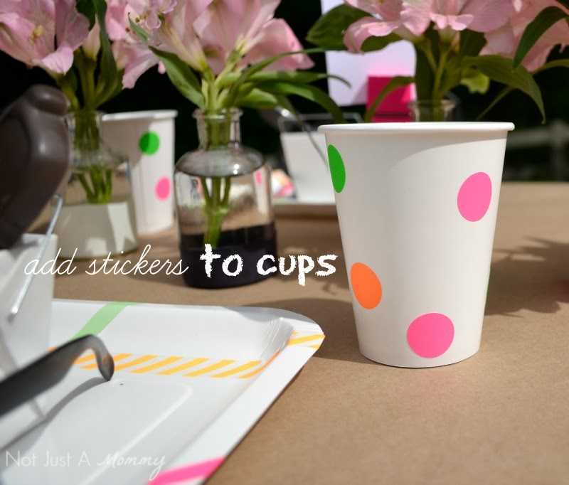 Headed For A Bright Future neon graduation party cups