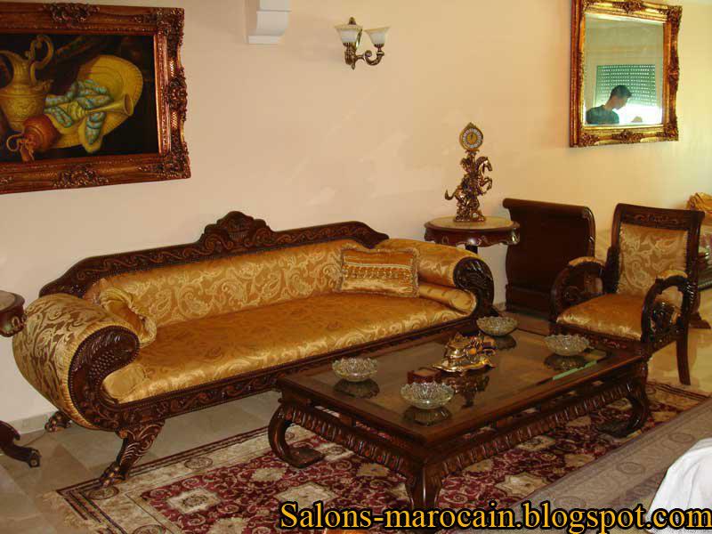 Salon Marocain traditionnel classic Tapissier S26 - Décoration Salon ...