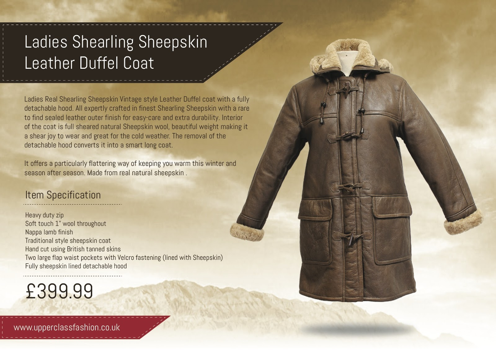 Ladies shearling jackets to wear